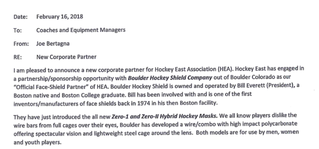 Hockey East announcement